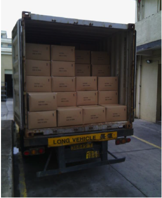 Nigerian order boxes in truck